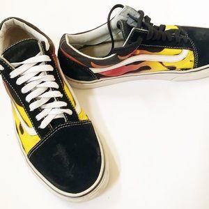 Old Skool VANS | Flame Sneakers 10